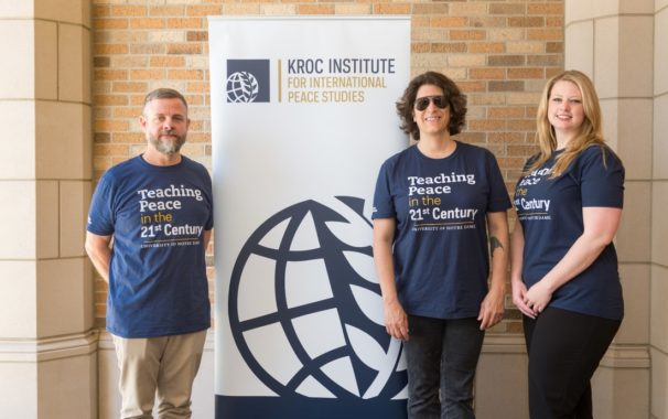 Faculty Pose at Peace Studies Summer Institute