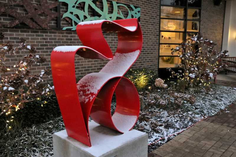 Sculpture outside Thornhill Gallery