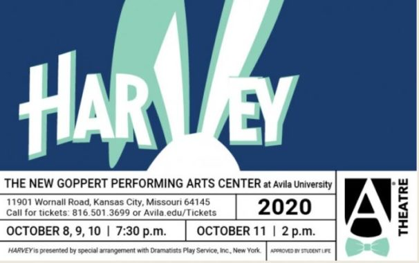 harvey at the new Goppert Performing Arts Center, October 8, 9, 10, and 11, 2020