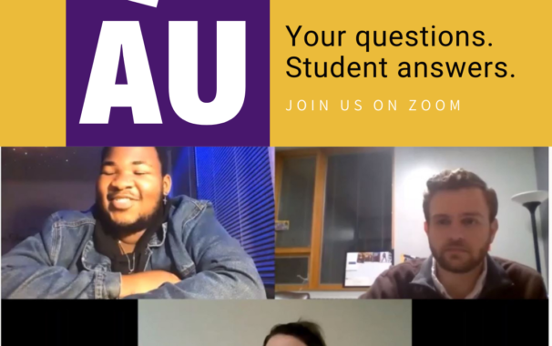 Q and AU. Your questions. Student answers. Zoom with us.