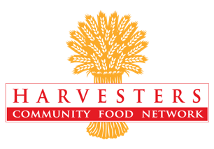 Logo for Harvesters, the Community Food Network