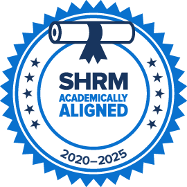 Icon for SHRM Academically Aligned Programs from 2020-25