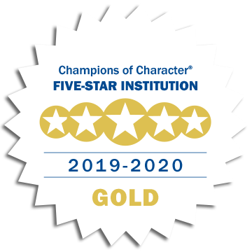 Champions of Character Five-Star Institution 2019-2020 Gold medallion
