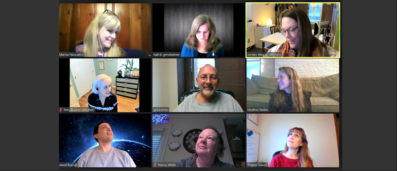 Faculty and staff of the psychology and cognitive science department on a zoom call