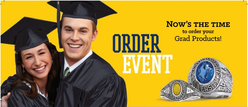 Balfour Graduation products order event. Now's the time to order yours.