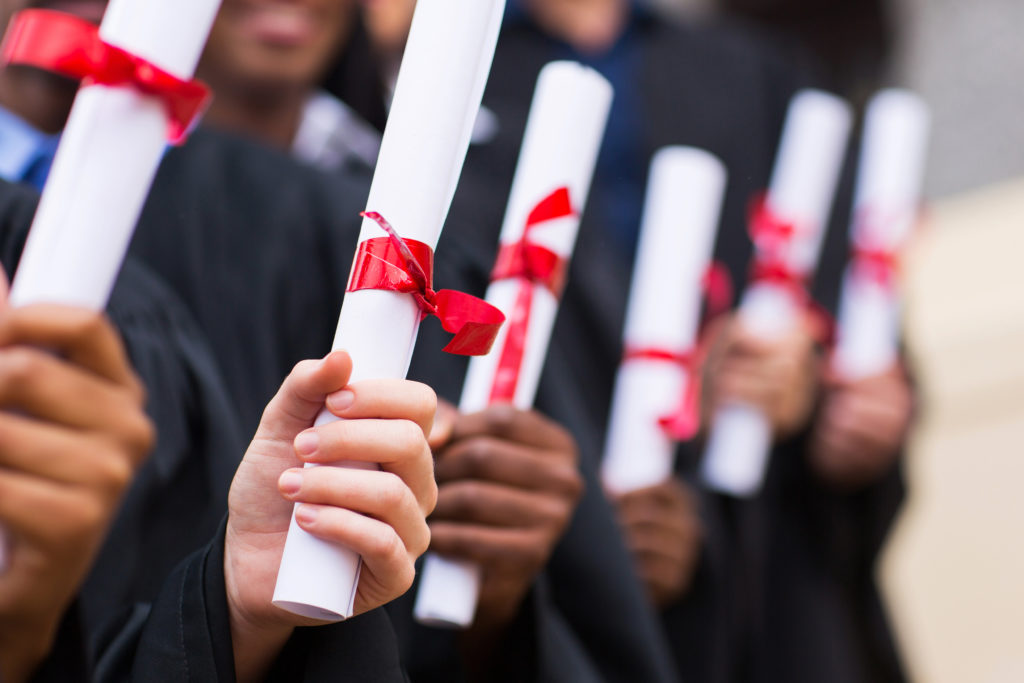 MABTS graduates with certificates