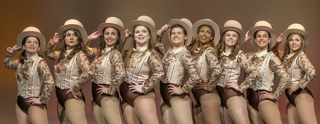 A Chorus Line students on stage