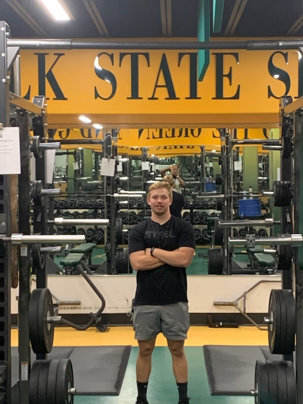 Piedmont University alumnus Killian McClain is now a an assistant strength and conditioning coach and adjunct professor at Norfolk State University.